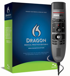 Dragon Medical Practice Edition 2.3 with Philips SpeechMike Premium LFH 3500