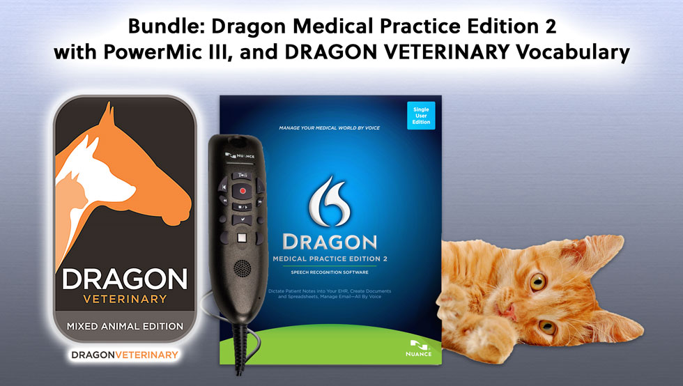 Dragon Medical Practice Edition 2 Veterinary Bundle
