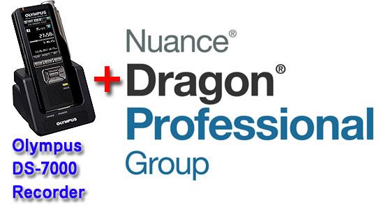 Professional Bundle: Olympus DS-7000 plus Dragon Professional Group 14