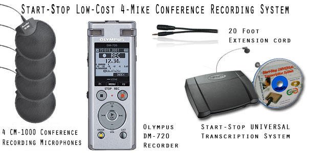 Start-Stop™ Low-Cost Conference Recording Systems