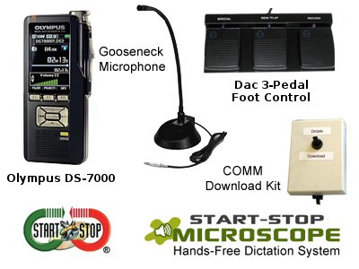 Start-Stop™ Microscope Hands-Free Dictation System