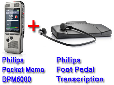 Philips Pocket Memo dictation and transcription set DPM6700