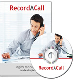 Photo of the RecordACall Software Program and CD