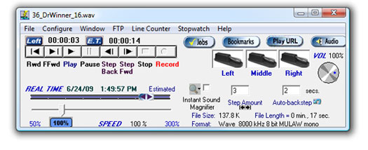 Start-Stop Transcriber for Superflow Recorder Main Screen