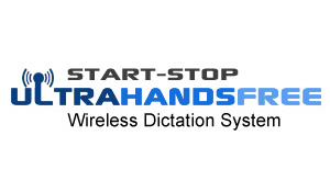 Start-Stop Ultra Hands Free Wireless Dictation System