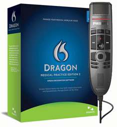 Dragon Medical Practice Edition 2 with Philips SpeechMike Premium Touch SMP3700