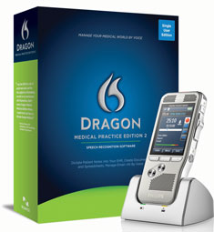 Dragon Medical Practice Edition 2 with Philips Digital Pocket Memo DPM8000