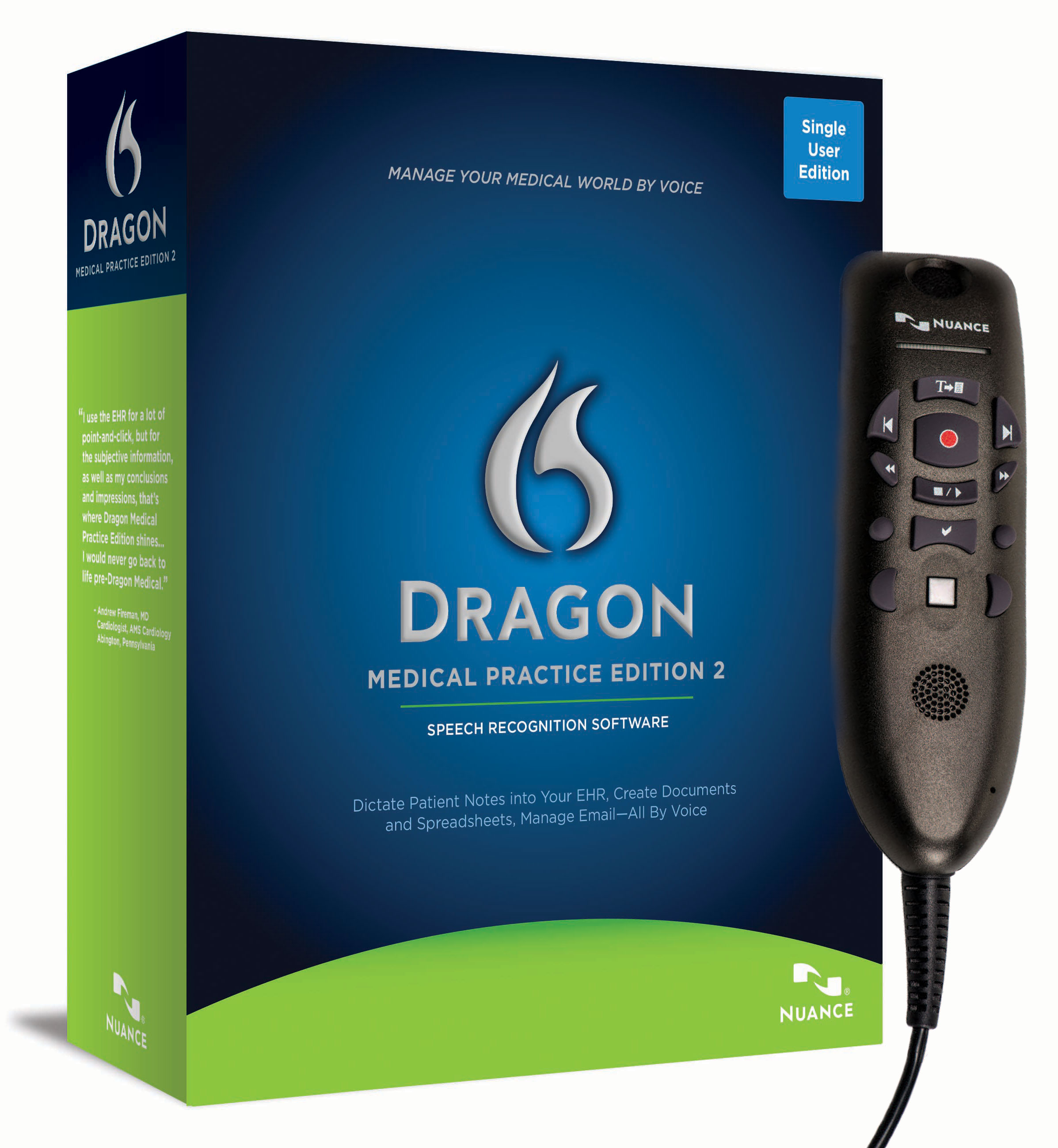 Dragon® Medical Practice Edition 2 UPGRADE with PowerMicIII