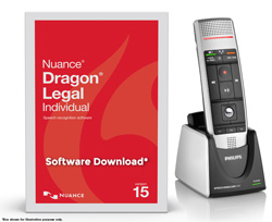 Dragon Legal Individual v15 Full Edition + Philips SpeechMike Air Model#39400 LFH-3000