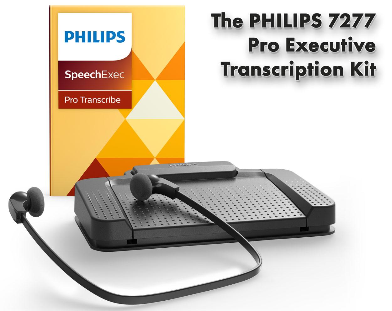 speechexec pro transcription set 7277 philips lfh7277. Black Bedroom Furniture Sets. Home Design Ideas