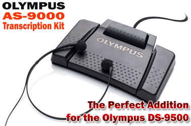 The Olympus AS-9000 Transcription Kit is the perfect addition to the DS-9500