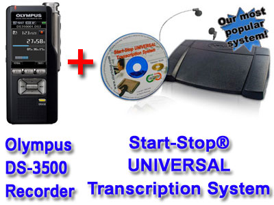 DS-3500 and Start-Stop Universal Transcription System