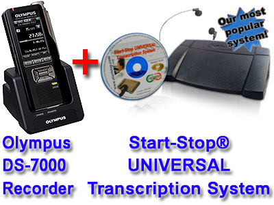 Picture of Olympus DS-7000 + Start-Stop® UNIVERSAL Transcription System