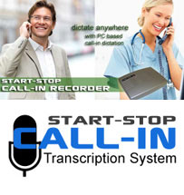 Call-In / Phone In Dictation Products