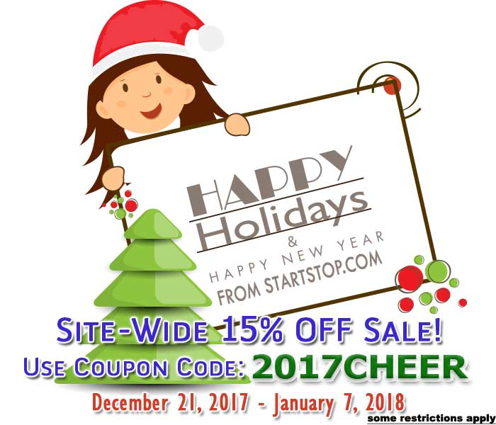 15% off site wide through January 7, 2108 with coupon code 2017cheer