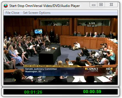 Picture Start-Stop OMNIVERSAL playing CSPAN