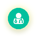 Icon of a doctor image with stethscope.