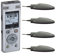 Start-Stop Low Cost Conference Recording System with Olympus DM-720
