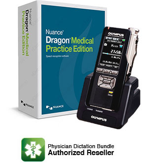 Dragon Medical Practice Edition 4 with Olympus DS-7000 Professional Digital Voice Recorder