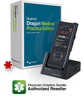Dragon Medical Practice Edition 4 with Olympus DS-9500 Professional Digital Voice Recorder