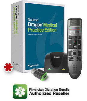 Dragon Medical Practice Edition 4 with Philips SMP4000 and AirBridge