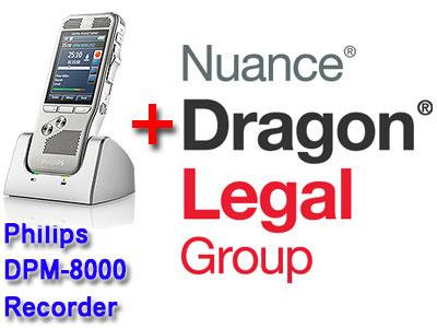 Professional Bundle: Philips DMP-8000 plus Dragon Legal Group 15