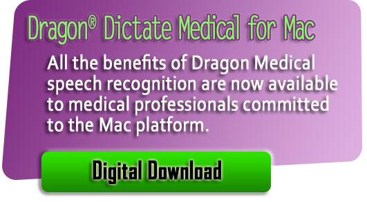 Dragon for Mac Medical version 5 digital download banner