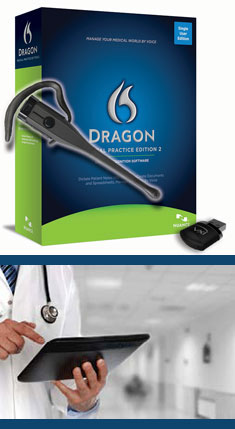 Dragon Medical Practice Edition 2 with VXi VoxStar Bluetooth Microphone Headset