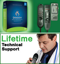 Get Dragon Medical Practice Edition through Start-Stop and get Lifetime Tech support.