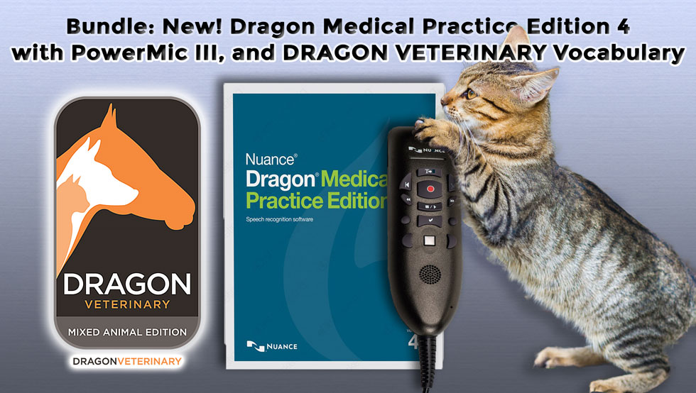 Dragon Medical Practice Edition 4 Veterinary Bundle