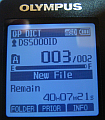 Olympus DS-5500 screen