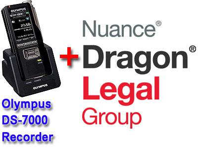 Legal Bundle: Olympus DS-7000 plus Nuance Dragon Legal Group