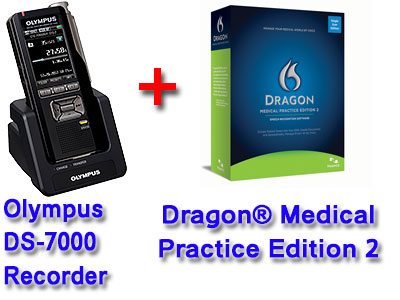 Professional Bundle: Olympus DS-7000 plus Dragon Medical Practice Edition 2
