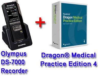 Professional Bundle: Olympus DS-7000 plus Dragon Medical Practice Edition 4