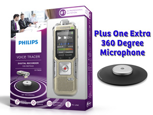 Philips Voice Tracer Meeting Recorder II Conference Meeting Recording Bundle