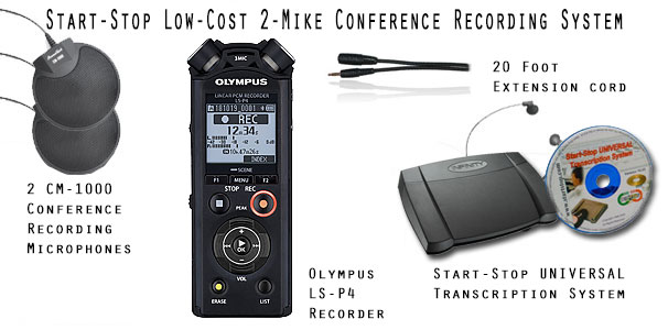 Start-Stop Low-Cost Conference Recording System LCCRS-2
