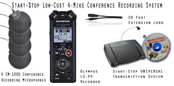 Start-Stop Low-Cost Conference Recording System LCCRS-4