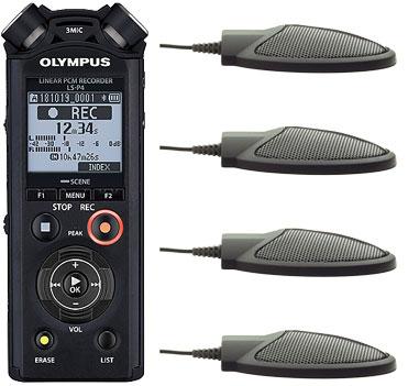 Olympus LS-P4 and CM-1000 Microphones