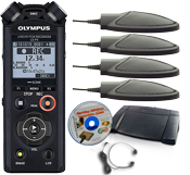 Start-Stop Low Cost Conference Recording System with Olympus LS-P4
