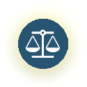 Icon of a weighted balance.