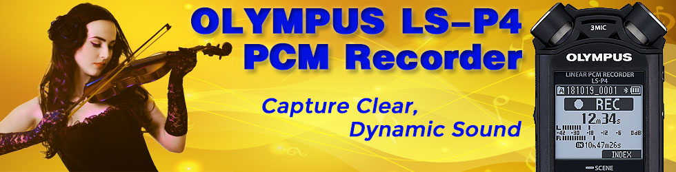 Olympus LS-P4 and violinist recording performance
