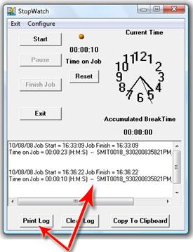 Start-Stop Omniversal's Stop Watch Feature