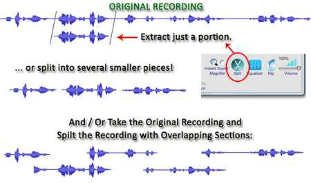 Start-Stop Omniversal Audio File Extraction