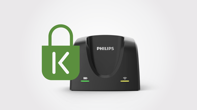 Philips uses Kensington lockdown.