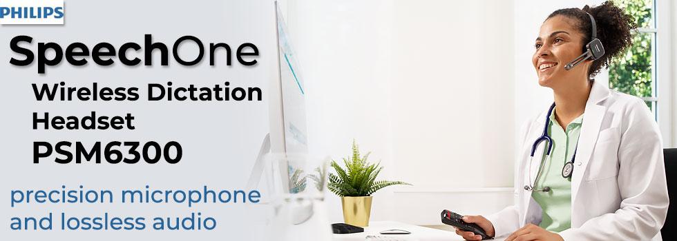 Philips SpeechOne Wireless Dictation Microphone PSM6300.