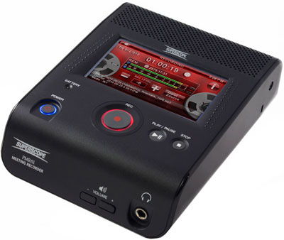 Showing angled view of the PMR61 Superscope Digital Audio Recorder