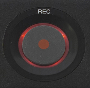 The simple error free record button on the PMR61 Superscope Digital Audio Recorder