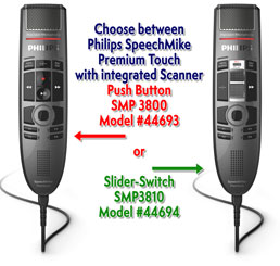 Philips SpeechMike Premium Touch With Barcode Scanner SMP3800/3810