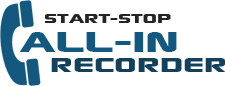 Start-Stop Call-in Recorder transcription
