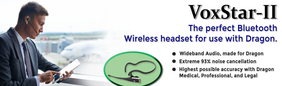VoxStar-II Bluetooth Headset.